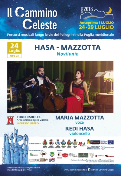 """Il duo Hasa-Mazzotta in concerto alle Terme di Valesio per presentare """"Novilunio"""" nella III edizione del Festival"""