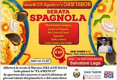"""""""La Noche Catalana"""" all'Oasi Tabor con il concerto del pianista Ekland Hasa e il menù dello chef internazionale Salvatore Lega"""