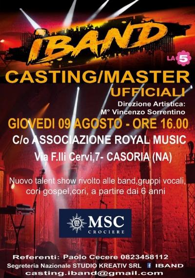 Ultima tappa di iBand a Casoria, appuntamento alla Royal Music per dar voce alla musica