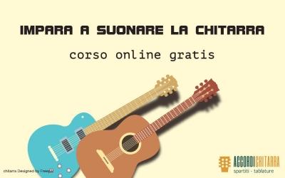 Nuovo corso di chitarra principianti gratis