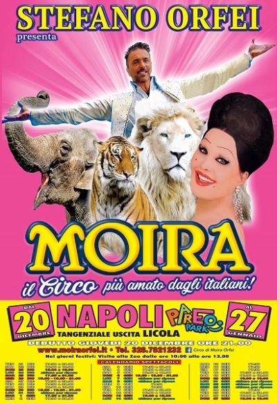 Il circo di Moira Orfei in Città a Natale e Capodanno
