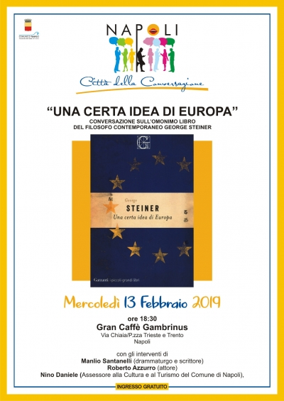 "Conversazione al caffè Gambrinus con ""Una certa idea d'Europa."