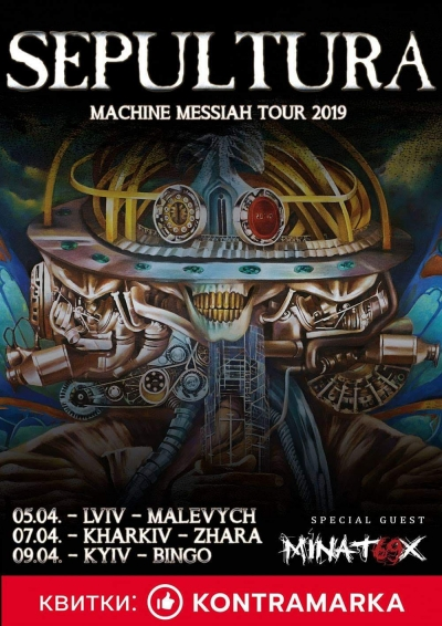 I Sepultura scelgono i Minatox69 per il Machine Messiah Tour 2019