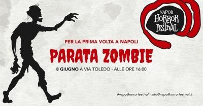 Per la prima volta a Napoli la Parata Zombie a via Toledo sabato 8 giugno