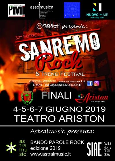 Le finali del 32° Sanremo Rock dal 4 al 7 giugno al Teatro Ariston