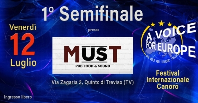 A Voice for Europe/Italia: 1^ semifinale 2019 a Treviso