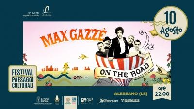 Max Gazzè torna in Salento il 10 agosto, il nuovo tour farà tappa ad Alessano per il