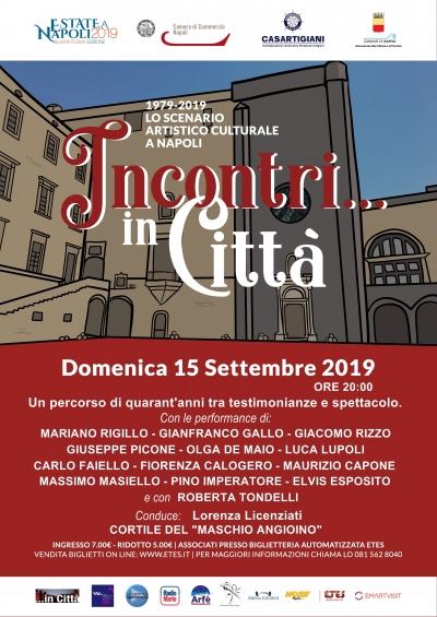 Incontri in Città 1979 - 2019 lo scenario artistico culturale a Napoli al CastelNuovo