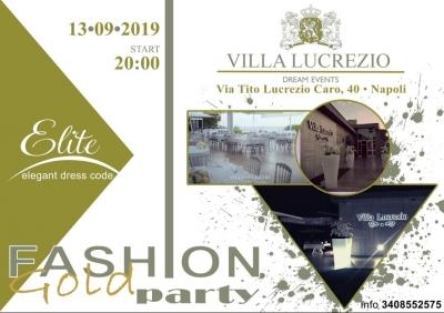 Fashion Gold Party Elite arriva l'edizione settembrina a Villa Lucrezio