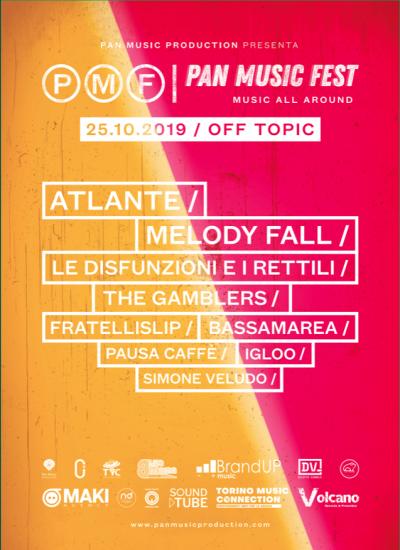 PAN MUSIC FEST parte col botto, con una Line-Up che va dagli Atlante ai Melody Fall