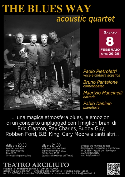 The Blues Way acoustic quartet al Teatro Arciliuto di Roma (8 febbraio)
