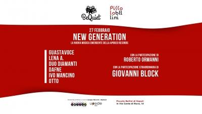 BEQUIET – CONCERTI AL PICCOLO BELLINI  presenta  APOGEO RECORDS NEW GENERATION