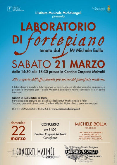 Laboratorio di Fortepiano con il m° Michele Bolla