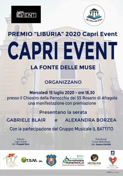 """Pronti al taglio del nastro per il """"Premio Liburia 2020 Caprievent"""""""