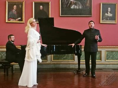 Chiara Taigi e Andrea Carè, Palazzo Barolo si innamora con Tosti e trema con Verdi!