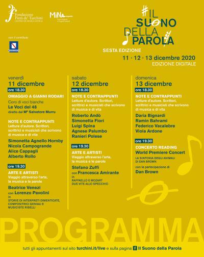 IL SUONO DELLA PAROLA 2020, al via la sesta edizione online
