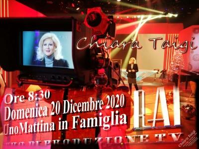 CHIARA TAIGI in diretta su RAIUNO - UnoMattina In Famiglia - Domenica 20 Dicembre 2020 Ore 9:15