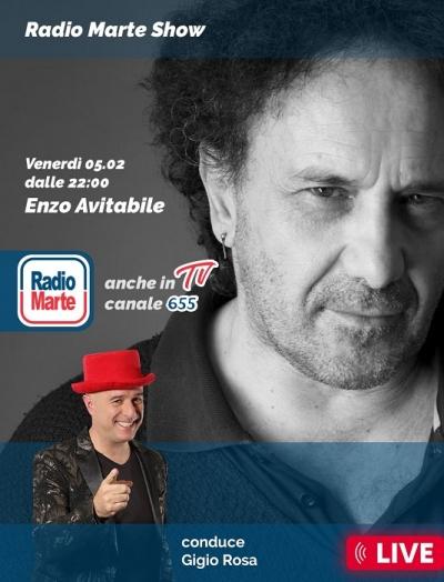 ENZO AVITABILE su Radio Marte Ospite del Radio Marte Show venerdì 5 febbraio in diretta dalle 22