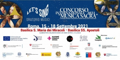 Il Concorso Internazionale Musica Sacra di Roma cerca otto cantanti per il progetto europeo Let's Sing Oratorio Music!