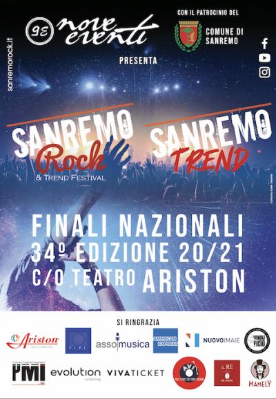 Iniziano a Sanremo le fasi finali nazionali e la finale del Sanremo Rock & Trend Festival!