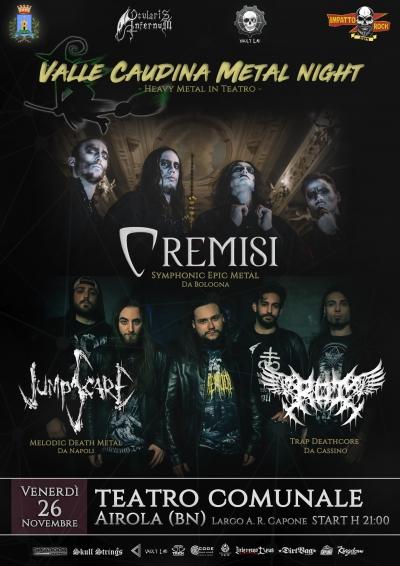 Airola (BN): Serata Heavy Metal nella magica cornice teatrale in Valle Caudina
