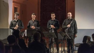 "Concerto ""Interplay"" con lo Strange Clarinet Quartet"